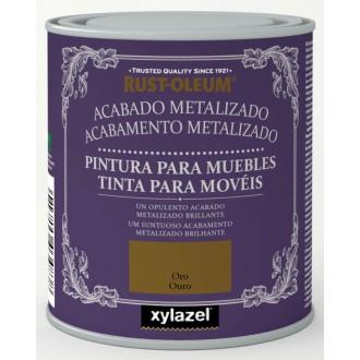 PINTURA A LA TIZA ORO METALIZADO CHALKY FINISH RUST OLEUM