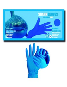 CAJA 50 GUANTES LATEX DIAMANTE SHARK